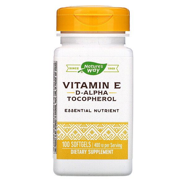 Vitamin E, 400 IU, 100 Softgels