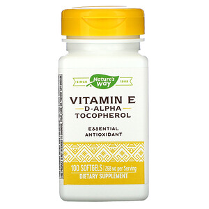 Натурес Вэй, Vitamin E, 400 IU, 100 Softgels отзывы