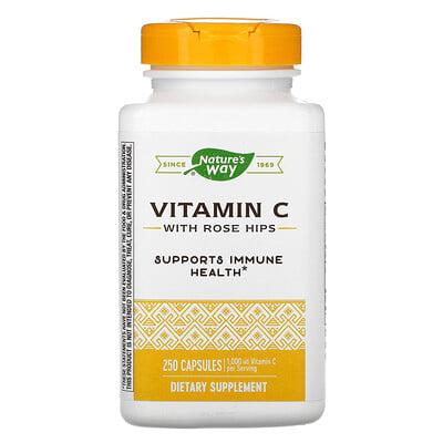 Купить Nature's Way витаминС с плодами шиповника, 1000мг, 250капсул