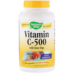 Nature's Way, ローズヒップ配合ビタミン C-500, カプセル250粒