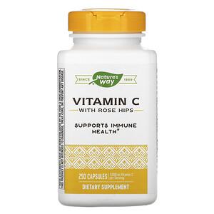 Натурес Вэй, Vitamin C with Rose Hips, 1,000 mg, 250 Capsules отзывы