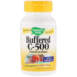 Nature's Way, Buffered C-500, 100 Capsules