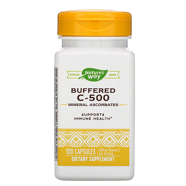 Buffered C-500, 500 mg, 100 Capsules