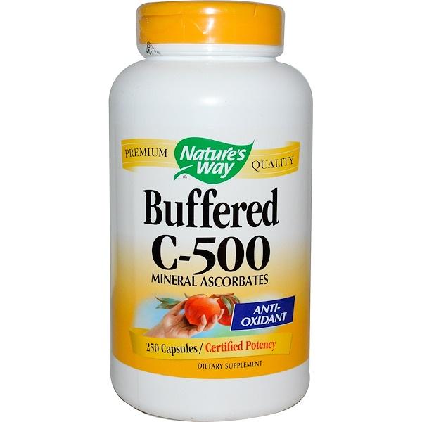 Nature's Way, 緩釋維生素C-500膠囊,250粒