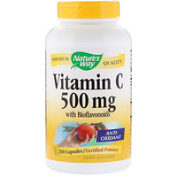 Vitamin C with Bioflavonoids, 500 mg, 250 Capsules - фото
