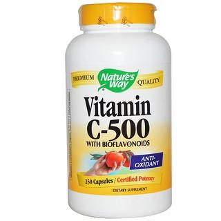 Nature's Way, 바이오 플라보노이드와 비타민 C-500, 250 캡슐