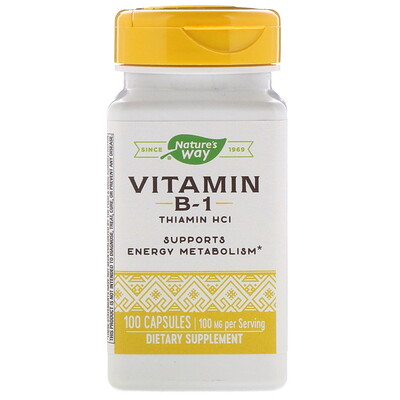ВитаминВ1, 100мг, 100капсул цена 2017
