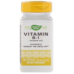 Натурес Вэй, Vitamin B-1, 100 mg, 100 Capsules отзывы покупателей