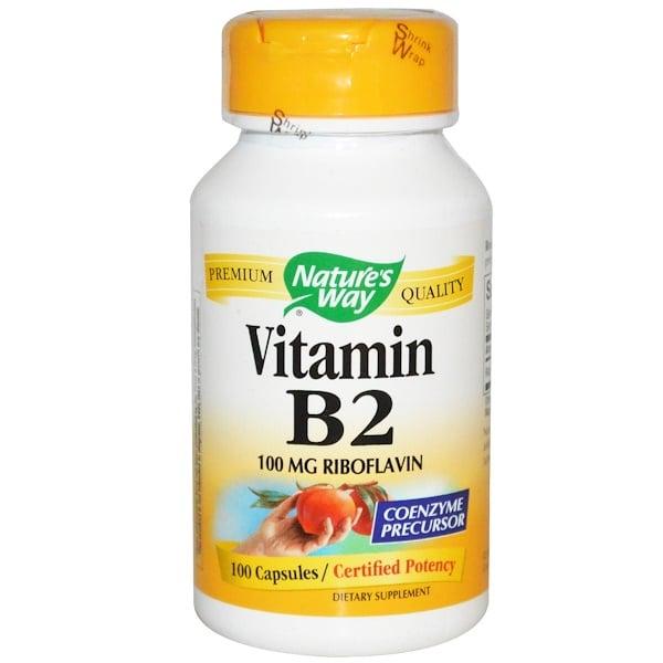 Nature's Way, ビタミンB2、 100 mg、 100カプセル
