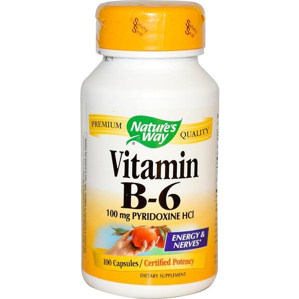 Nature's Way, Vitamin B-6, 100 Capsules