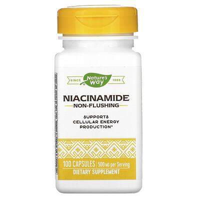 Natures Way Никотинамид, 500 мг, 100 капсул