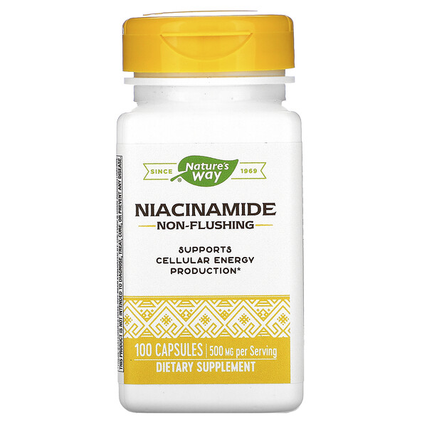 Nature's Way, Niacinamide, 500 mg, 100 Capsules