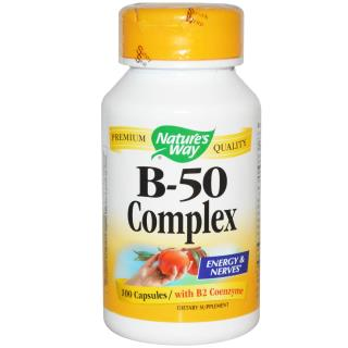 Nature's Way, Комплекс B-50 (B-50 Complex), 100 капсул
