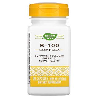 Nature's Way, B-100 復合物,含 B2 輔酶,60 粒膠囊