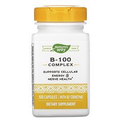 Nature's Way, 含 B2 輔酶的 B-100 複合物,100 粒膠囊