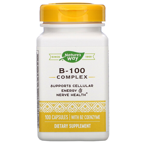 Nature's Way, B-100 Complex with B2 Coenzyme, 100 Capsules