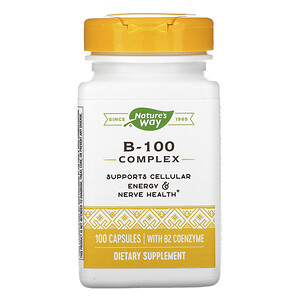 Натурес Вэй, B-100 Complex with B2 Coenzyme, 100 Capsules отзывы покупателей