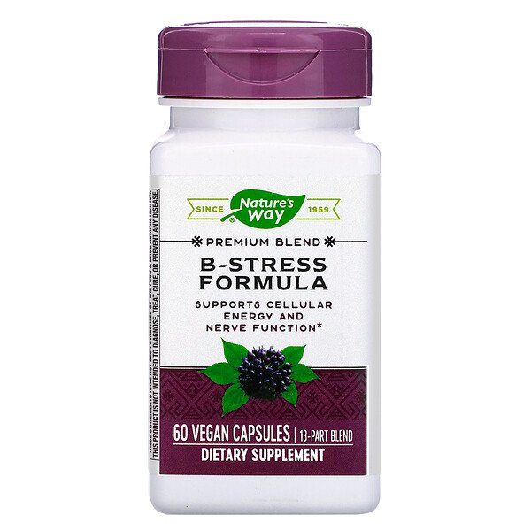 Nature's Way, B-Stress Formula, 60 Vegan Capsules