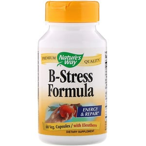 Nature's Way, B-Stress Formula, 60 Veg Capsules'