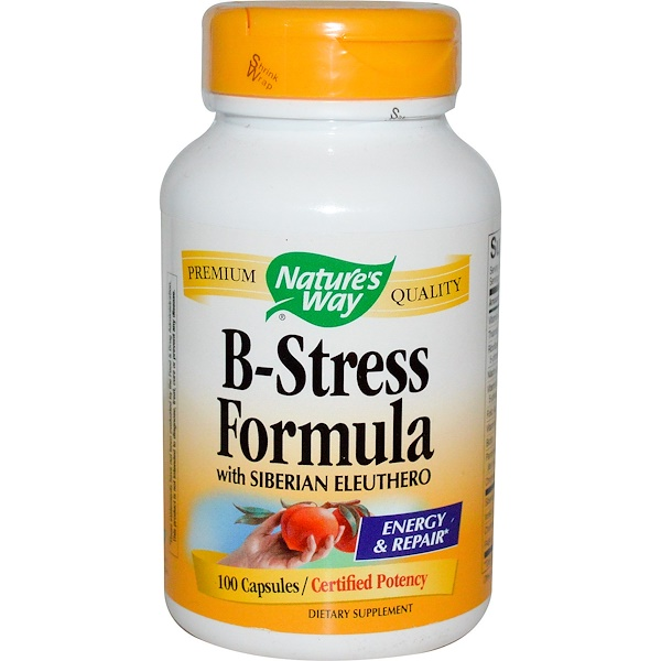 Nature's Way, B-Stress Formula with Siberian Eleuthero, 100 Capsules