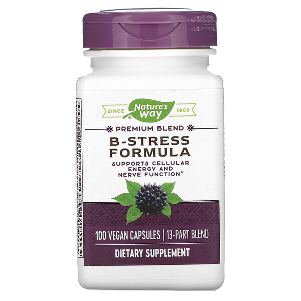 Nature's Way, B-Stress Formula, 100 Vegan Capsules