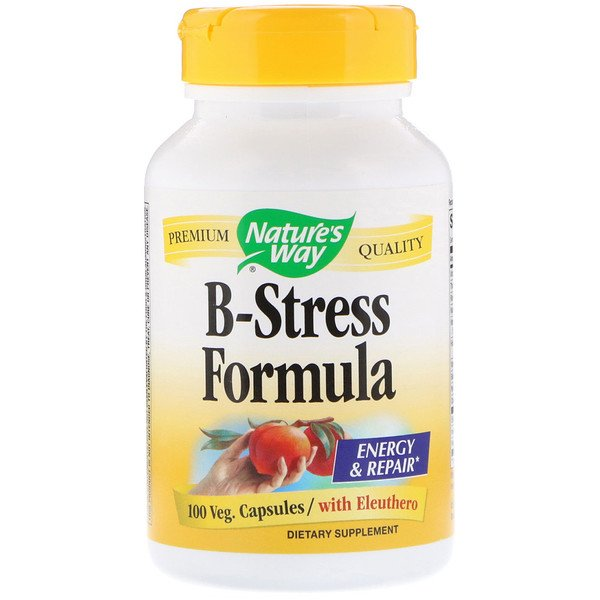 Nature's Way, B-Stress Formula, 100 Veg. Capsules