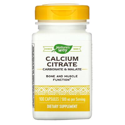 Nature's Way Calcium Citrate, 500 mg, 100 Capsules