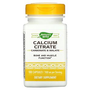 Натурес Вэй, Calcium Citrate, 500 mg, 100 Capsules отзывы покупателей