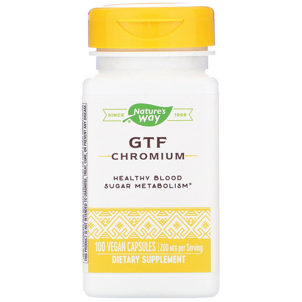 Nature's Way, GTF Chromium, 200 mcg, 100 Vegan Capsules