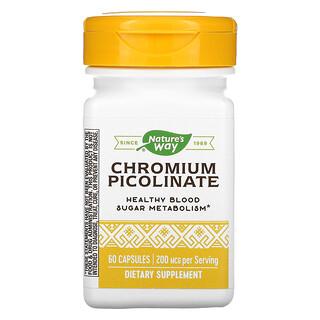 Nature's Way, Chromium Picolinated, 200 mcg, 60 Capsules
