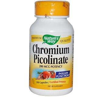 Nature's Way, Chromium Picolinate, 200 mcg, 100 Capsules