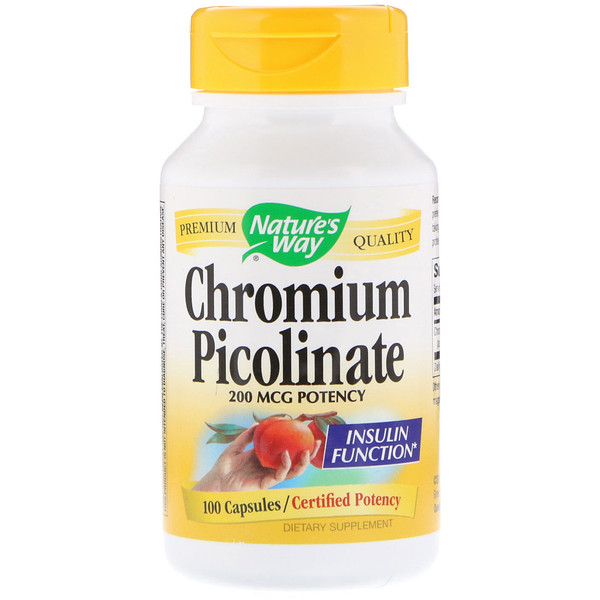 Nature's Way, Chromium Picolinate, 200 mcg, 100 Capsules