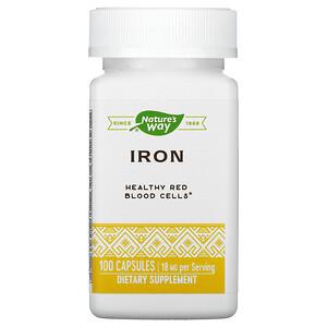 Натурес Вэй, Iron, 18 mg, 100 Capsules отзывы