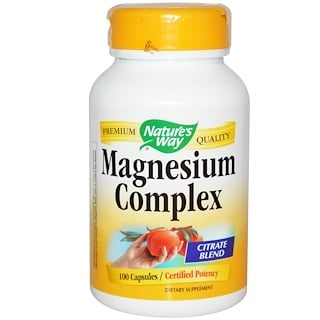Nature's Way, Magnesium Complex, 100 Capsules