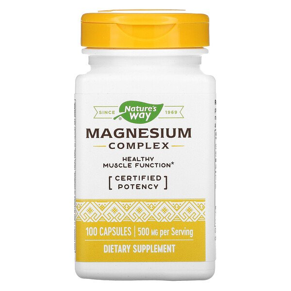 Nature's Way, Magnesium Complex, 500 mg, 100 Capsules