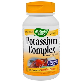 Nature's Way, Potassium Complex, 99 mg, 100 Capsules