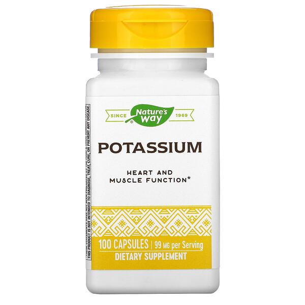 Nature's Way, Potassium, 99 mg, 100 Capsules