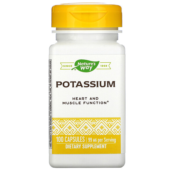 Nature's Way, Potassium Chelate, 99 mg, 100 Capsules
