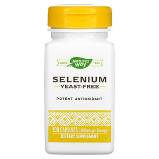 Nature's Way, Selenium, 200 mcg, 100 Capsules
