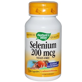 Nature's Way, Selenium, 200 mcg, 100 Capsules