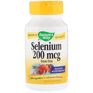 Nature's Way, Sélénium, 200 mcg, 100 Gélule