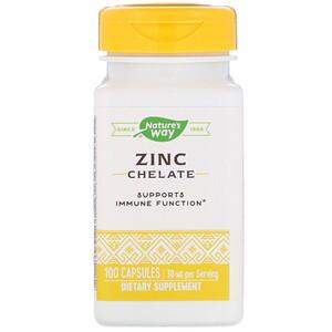 Натурес Вэй, Zinc Chelate, 30 mg, 100 Capsules отзывы покупателей