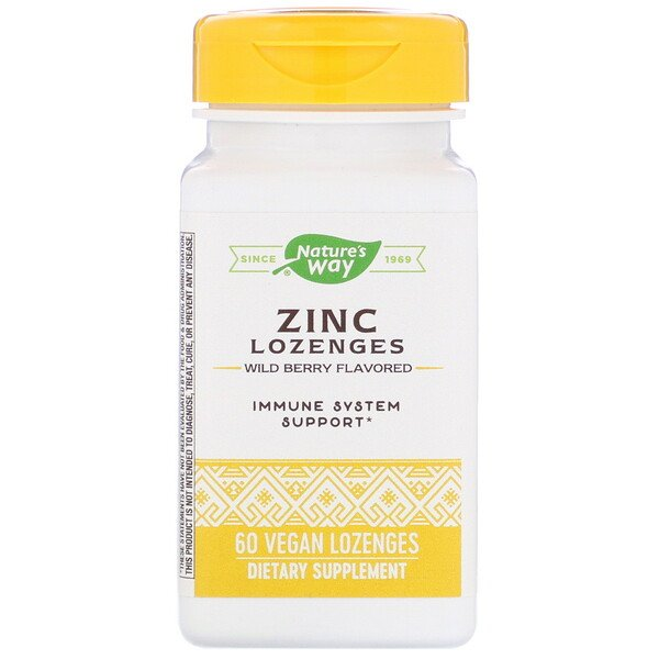 Zinc Lozenges, Wild Berry Flavored, 60 Vegan Lozenges