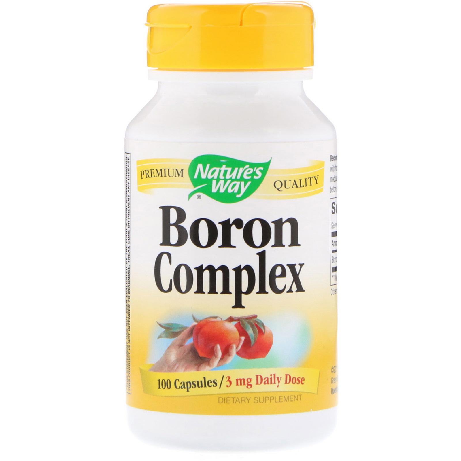 Nature's Way, Boron Complex, 3 mg, 100 Capsules - iHerb com