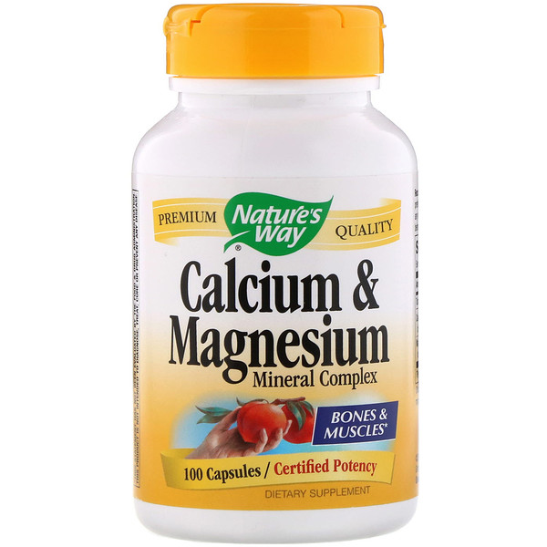 Nature's Way, Calcium & Magnesium Mineral Complex, 100 Capsules