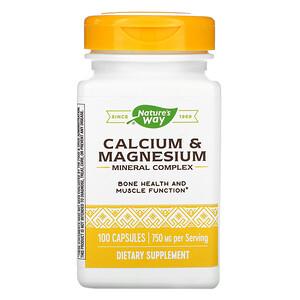 Натурес Вэй, Calcium & Magnesium Mineral Complex, 750 mg, 100 Capsules отзывы покупателей
