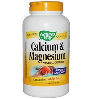 Nature's Way, Calcium & Magnesium, Mineral Complex, 250 Capsules