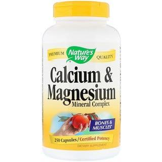 Nature's Way, Cálcio e magnésio, complexo mineral, 250 cápsulas