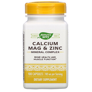 Nature's Way, Calcium Mag & Zinc Mineral Complex, 765 mg, 100 Capsules