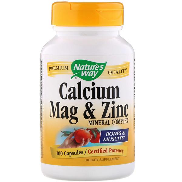 Calcium Mag & Zinc Mineral Complex, 100 Capsules